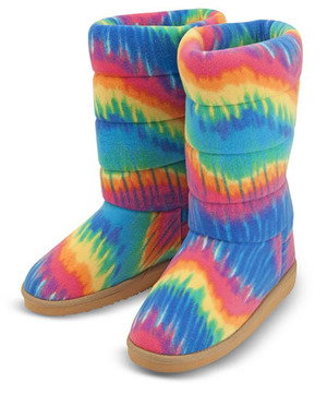Beeposh Rainbow Boot Slippers (XL)