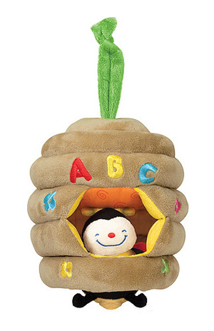 Musical Pull Beehive Baby Toy