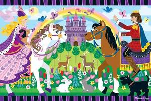 Fairy Tale Friendship Floor Puzzle - 24 Pieces