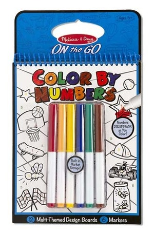 Color by Numbers Blue- ON the GO Travel Activity