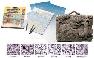 Scratch Art Shade-Tex Rubbing Plates - Nature Set