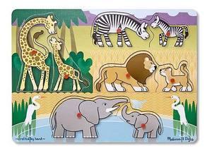 Safari Peg Puzzle - 8 Pieces