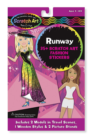 Scratch Art® Fashion Sticker Set - Runway