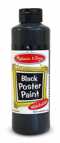 Black Poster Paint