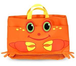 Clicker Crab Kids' Beach Tote Bag