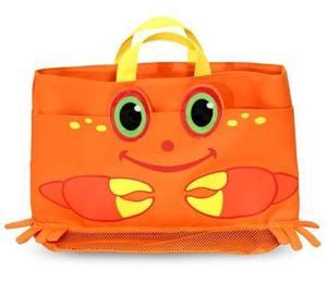 Clicker Crab Kids' Beach Tote Bag