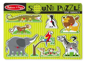Zoo Animals Sound Puzzle - 8 Pieces