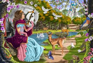 Princess Pathway Floor Puzzle - 100 Pieces