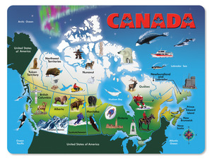Wooden Canada Map Puzzle