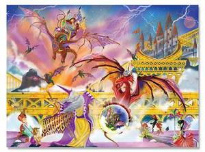 Dragon Storm Cardboard Jigsaw Puzzle - 500 Pieces