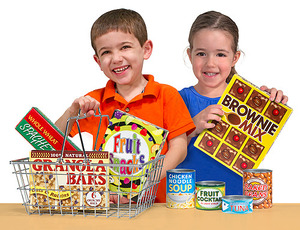 Let's Play House! Grocery Basket with Play Food