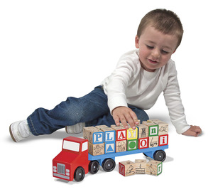 Alphabet Blocks Wooden Truck
