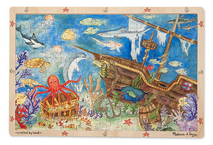 Sunken Treasures Wooden Jigsaw Puzzle - 96 Pieces