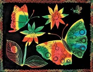 Scratch Art Soft Scratch Board - Multicolor w/stylus (10 boards)
