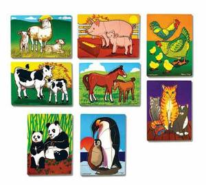 Mothers and Baby Animals Puzzle Set