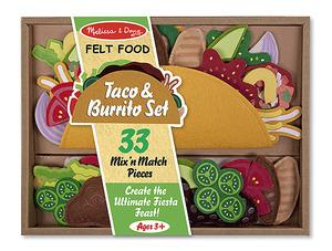 Felt Play Food - Taco & Burrito Set