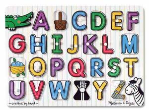 See-Inside Alphabet Peg Puzzle - 26 pieces