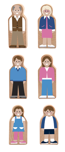 Whittle World Neighbors Wooden Set