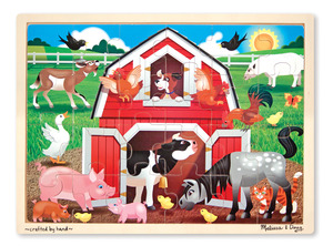 Barnyard Buddies Wooden Jigsaw Puzzle - 24 Pieces