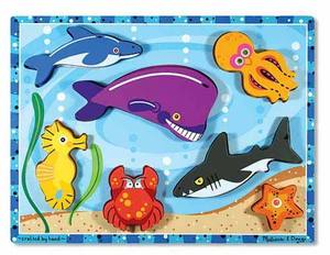 Sea Creatures Chunky Puzzle - 7 Pieces