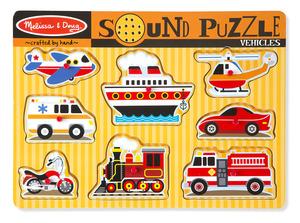 Vehicles Sound Puzzle - 8 Pieces