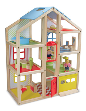 Hi-Rise Wooden Dollhouse and Furniture Set