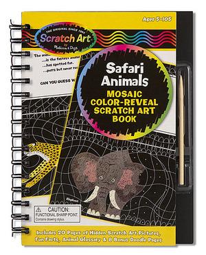Scratch Art® Mosaic Color-Reveal Book - Safari Animals