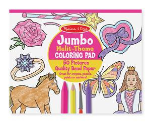 Jumbo Coloring Pad - Pink