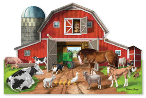 Busy Barn Yard Shaped Floor Puzzle - 32 Pieces