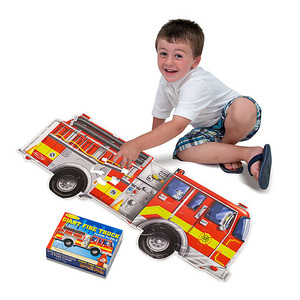 Giant Fire Truck Floor Puzzle - 24 Pieces