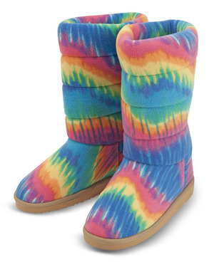 Beeposh Rainbow Boot Slippers (L)
