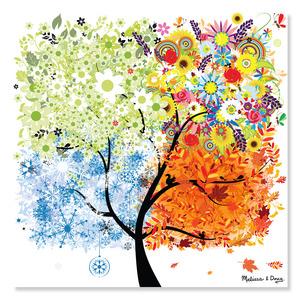 Seasons Tree Cardboard Jigsaw - 200 Pieces
