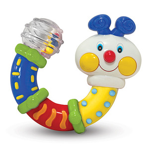 Twisting Inchworm Rattle Baby Toy