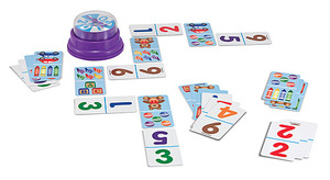 Picture Dominoes Press & Spin Game