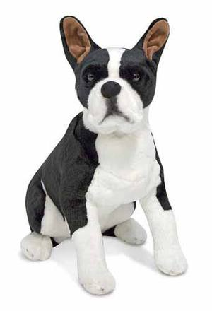 Boston Terrier Dog Giant Stuffed Animal
