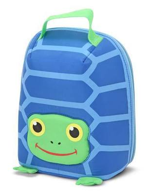 Scootin' Turtle Insulated Lunch Bag for Kids