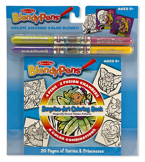 Blendy Pens Surprise-Art Coloring Book - Fairies & Princesses