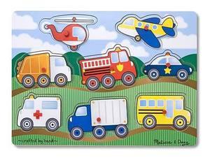 Vehicles Peg Puzzle - 8 Pieces