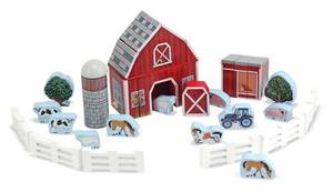 Farm Blocks Wooden Play Set