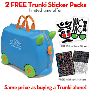 Trunki Terrance (Blue) with FREE Trunki Stickers