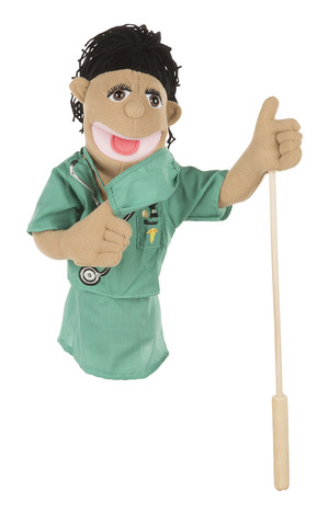 Surgeon Puppet in Scrubs