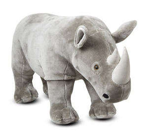Rhinoceros Lifelike Stuffed Animal