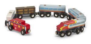 Wooden Train Cars Set