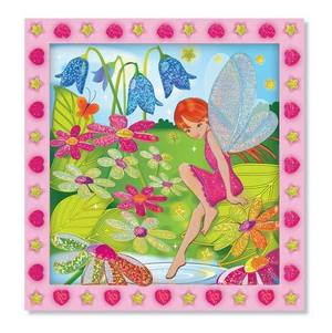 Flower Garden Fairy Peel & Press Sticker by Numbers