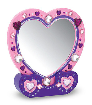 Decorate-Your-Own Heart Mirror