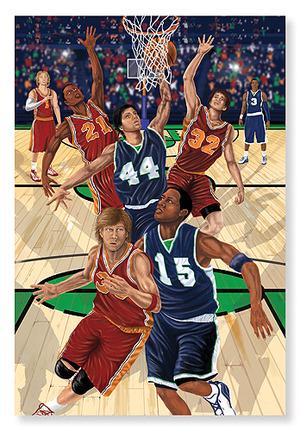Slam Dunk! Basketball Floor Puzzle - 48 Pieces