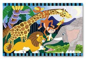 Safari Social Floor Puzzle - 24 Pieces
