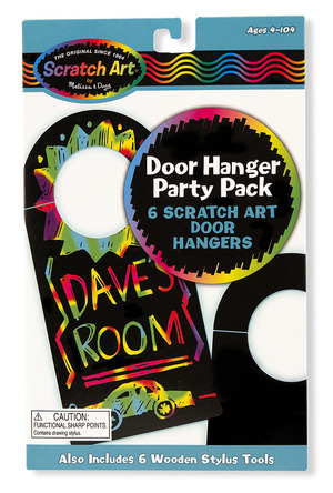 Scratch Art Party Pack - Door Hangers