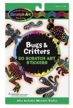Scratch Art® Bugs & Critters Stickers