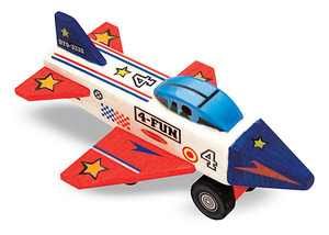 Decorate-Your-Own Wooden Jet Plane